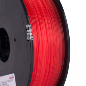 filamento PLA rojo translúcido 1.75mm