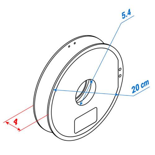 Medidas carrete de filamento