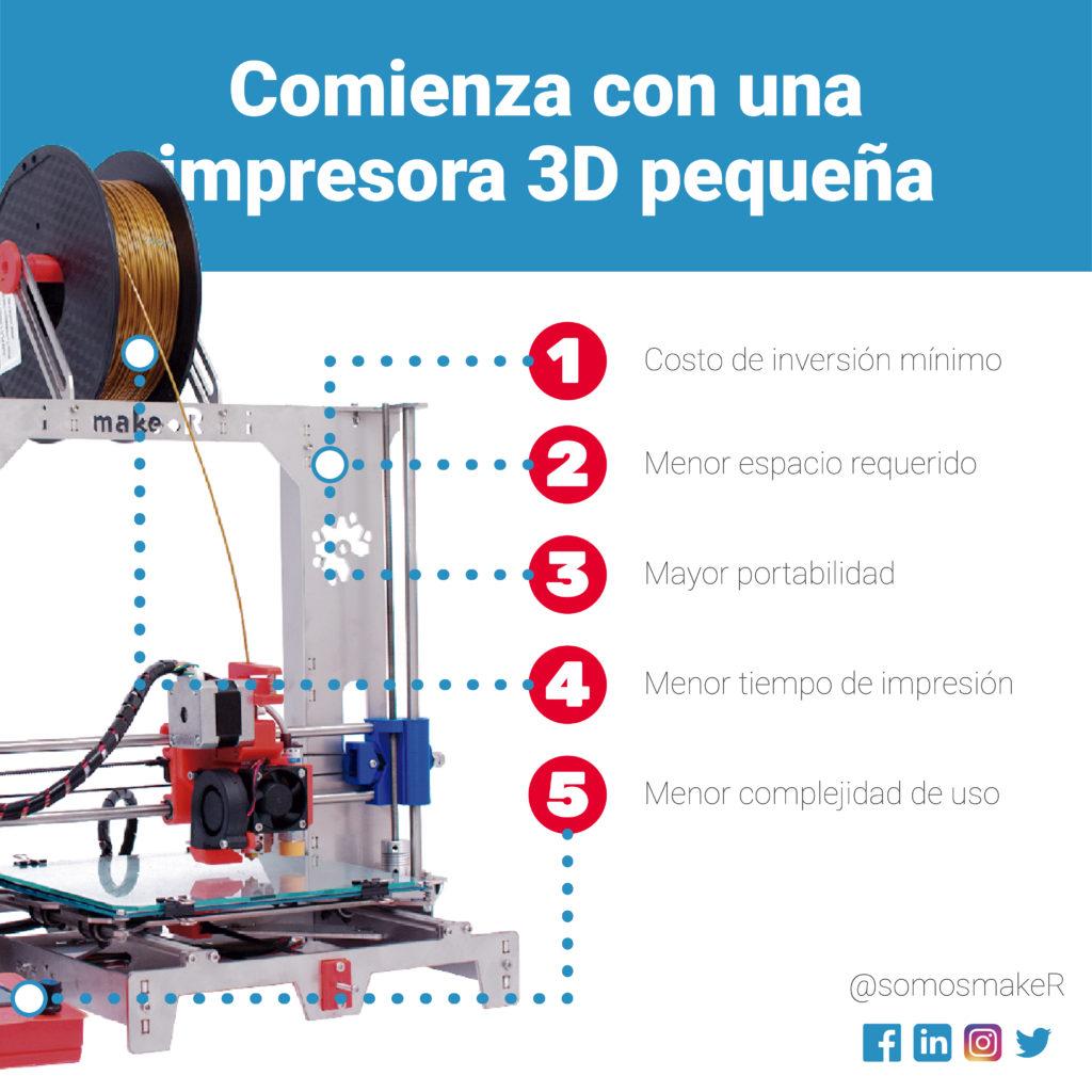 las ventajas de elegir una impresora 3D pequeña