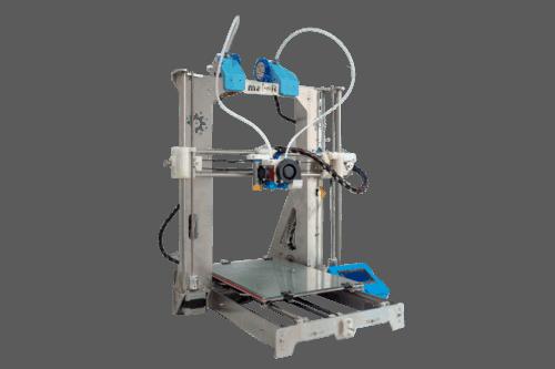 Impresora 3D Tairona XL Doble Extrusor de costado con fondo transparente