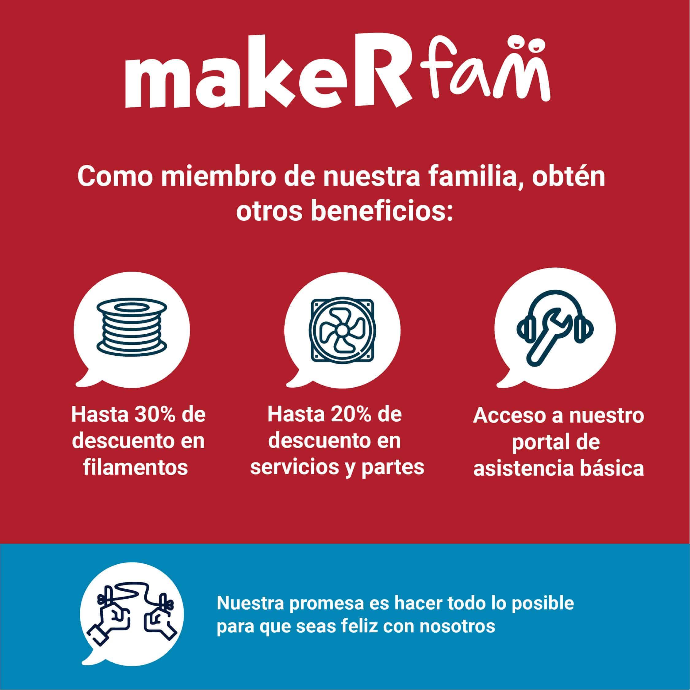 Beneficios de tener uan membresia makeR Fam